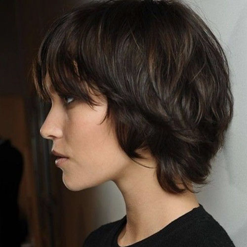Shoulder Length Shaggy Bob Hair