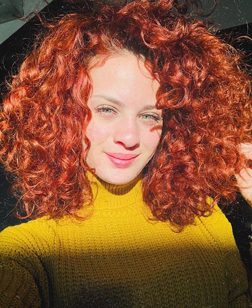 Medium Curly Hair Color