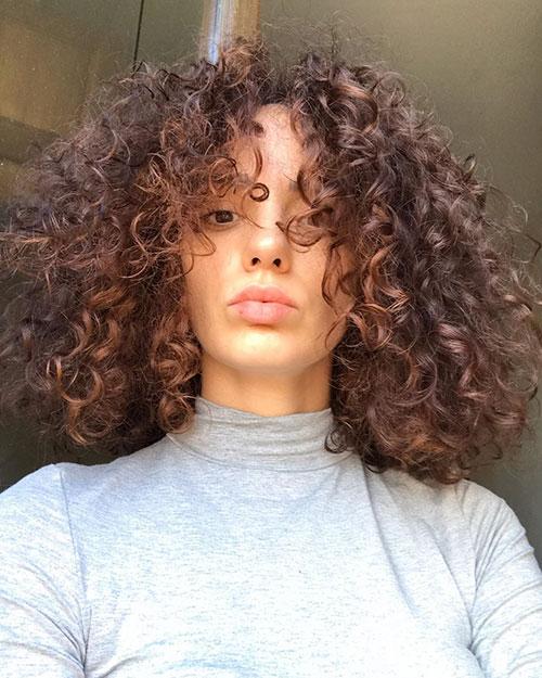 Medium Curly Hair Women