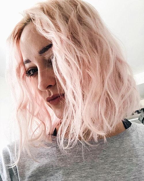 Pink Medium Haircuts