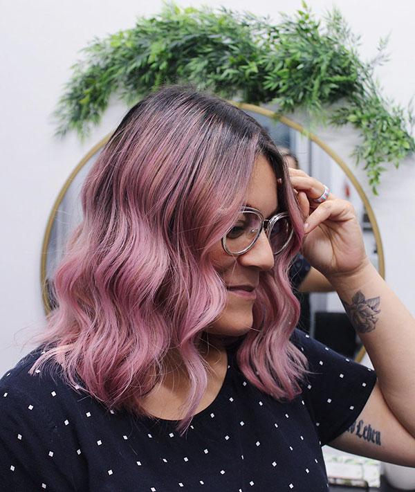 Medium Pink Hairstyles