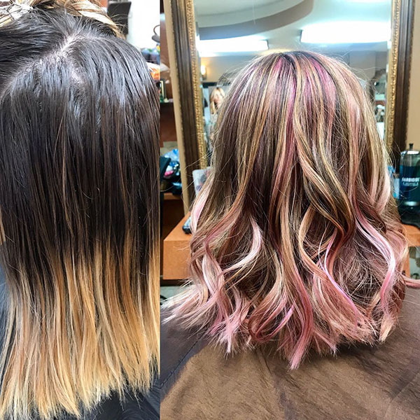 Medium Pink Hair Color Pictures