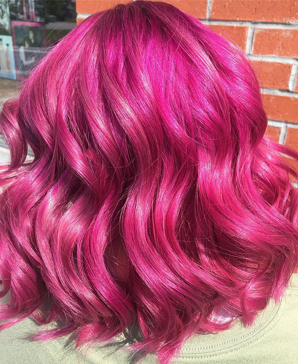 Pink Hair Color For Medium Hair