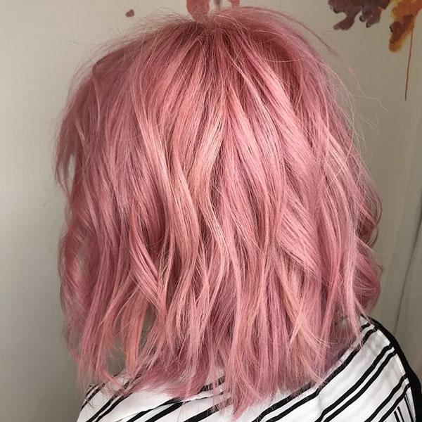 Medium Pink Hair Color