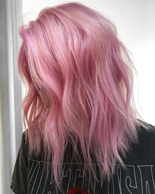 Medium Pink Hair Color Ideas