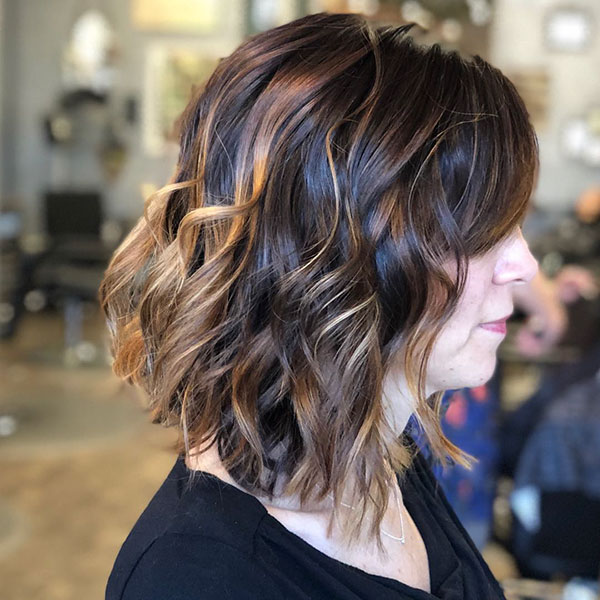 Medium Hair Cuts With Bangs For Women