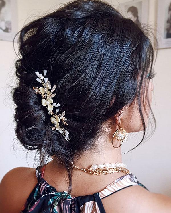 Medium Bridesmaid Hair