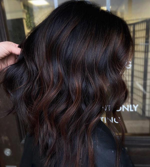 Hairstyles For Medium Chocolate Hair