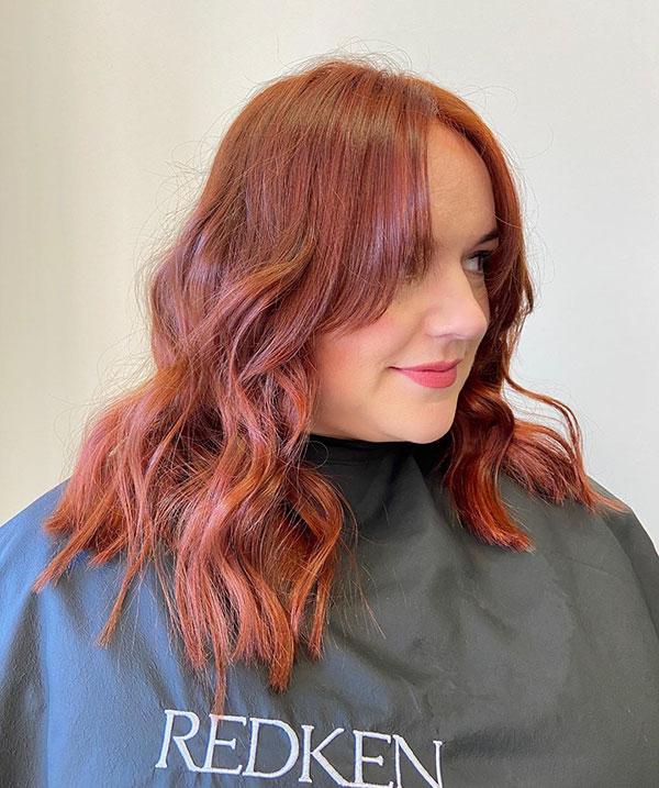 Medium Red Hair For Women