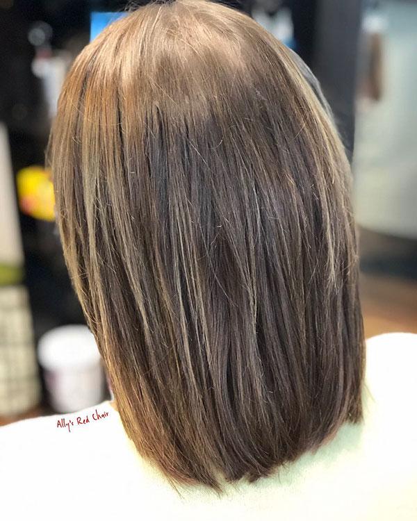 Medium Straight Haircuts