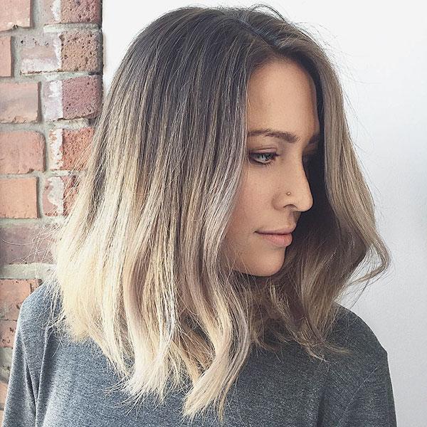 Medium Haircut And Ombre Hair