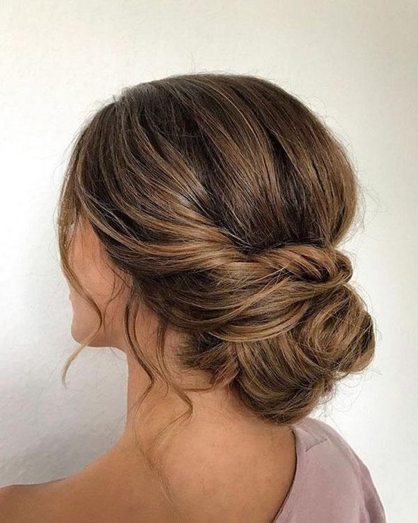 Medium Hair Bun Styles