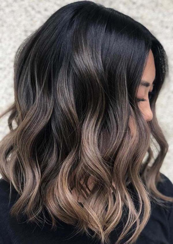 Medium Brown Highlights On Black Hair
