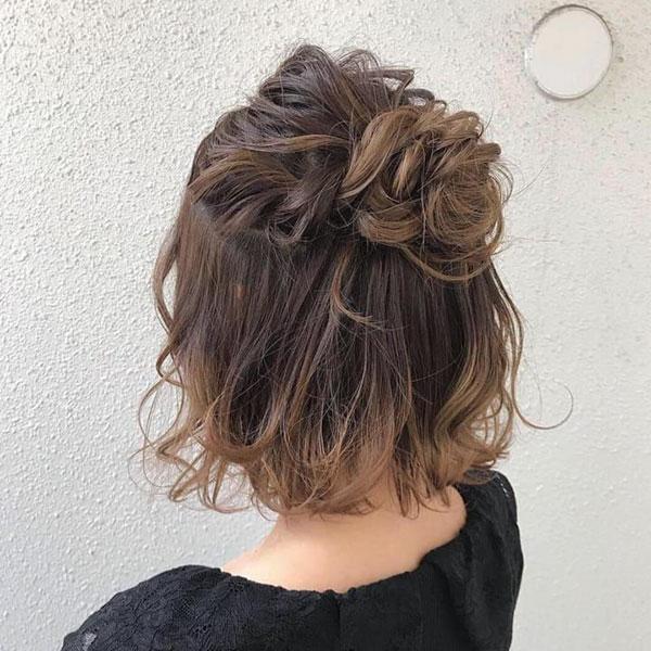 Formal Medium Bun Hairstyles