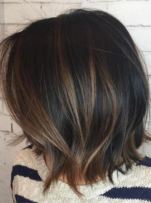 Medium Brown With Highlights