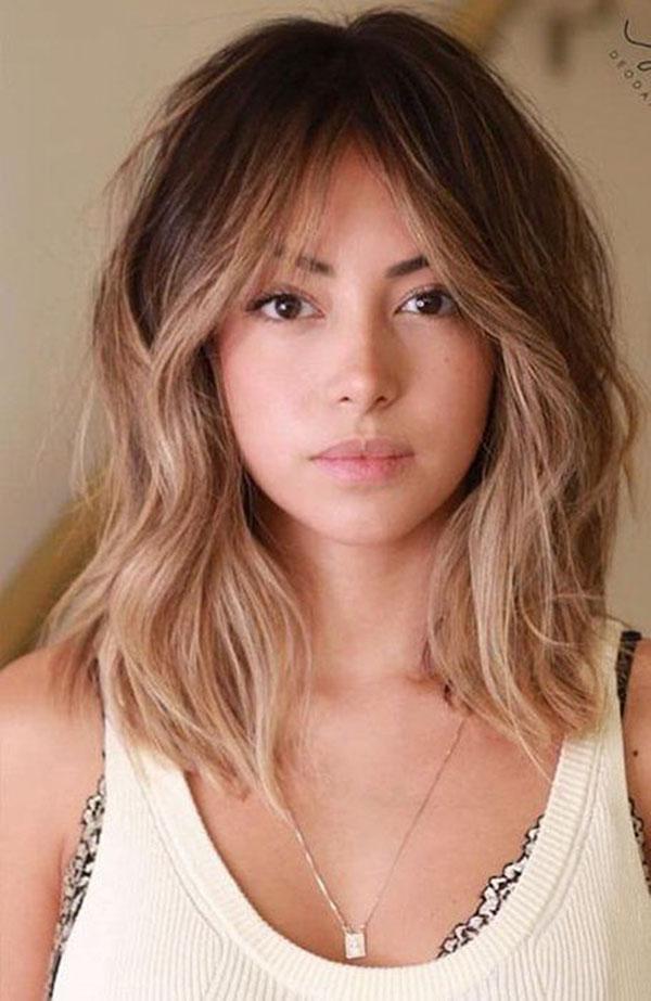 Cute Haircuts With Bangs For Medium Hair