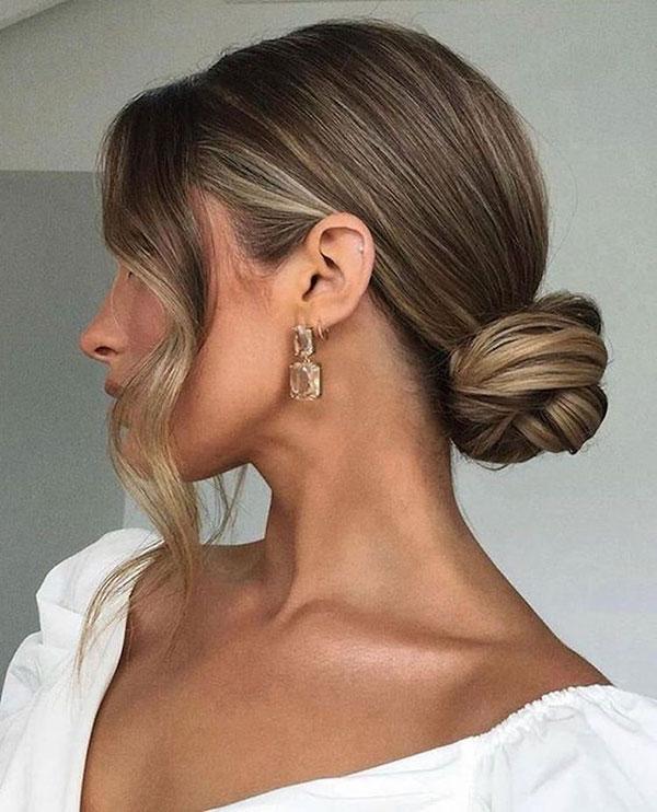 Different Bun Hairstyles Medium Hair