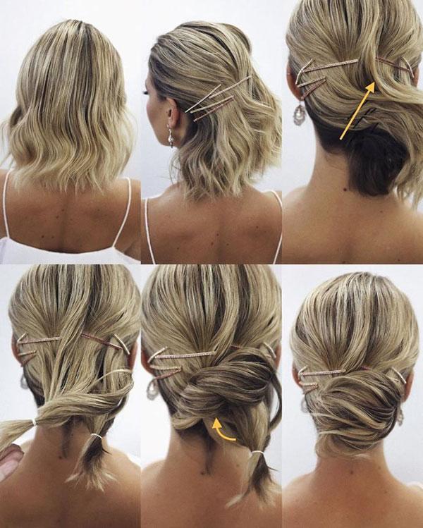 Low Bun Hairstyles For Medium Hair
