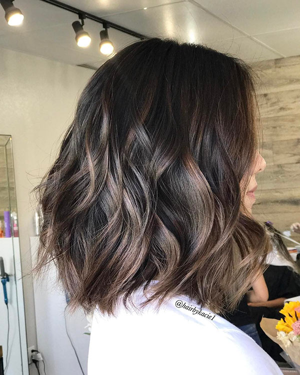 Medium Brown Hair And Highlights